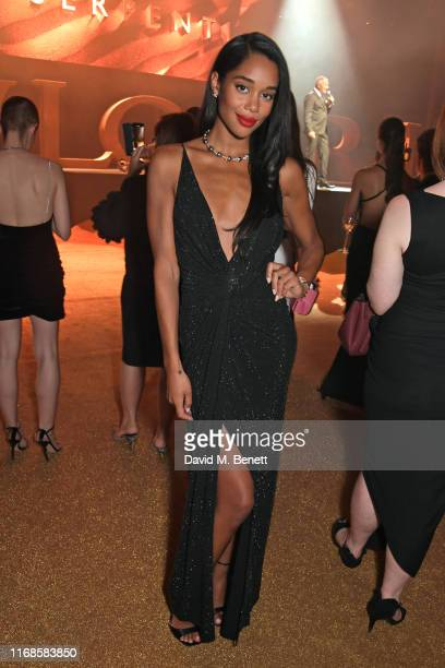 Laura Harrier attends the Bvlgari Serpenti Seduttori launch at the Roundhouse on September 15, 2019 in London, England.