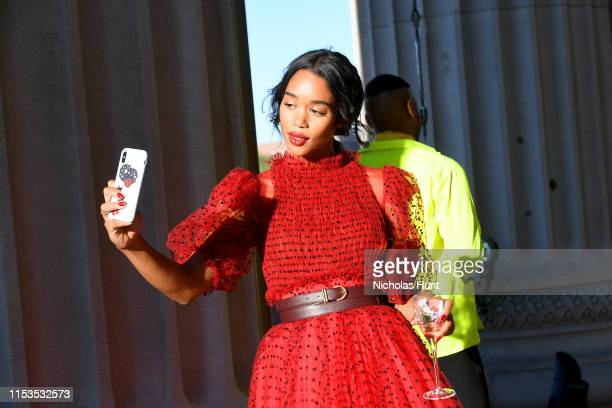 Laura Harrier attends the CFDA Fashion Awards at the Brooklyn Museum of Art on June 03, 2019 in New York City.