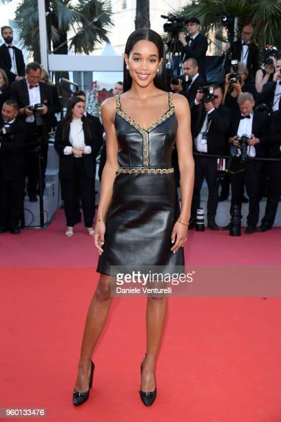 Laura Harrier attends the Closing Ceremony screening of The Man Who Killed Don Quixote during the 71st annual Cannes Film Festival at Palais des...