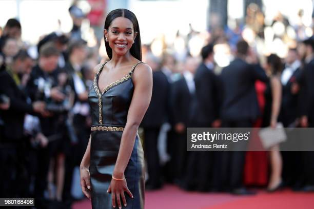"Laura Harrier attends the Closing Ceremony & screening of ""The Man Who Killed Don Quixote"" during the 71st annual Cannes Film Festival at Palais des..."