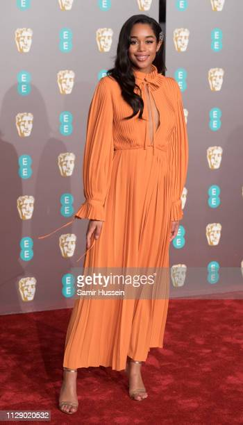 Laura Harrier attends the EE British Academy Film Awards at Royal Albert Hall on February 10 2019 in London England
