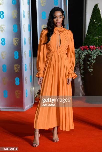 Laura Harrier attends the EE British Academy Film Awards Gala Dinner at Grosvenor House on February 10, 2019 in London, England.