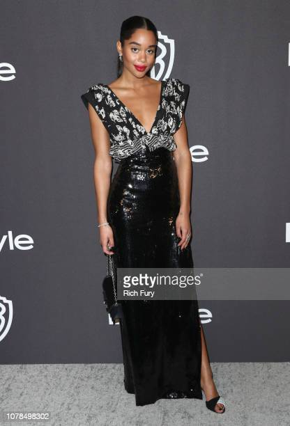 Laura Harrier attends the InStyle And Warner Bros. Golden Globes After Party 2019 at The Beverly Hilton Hotel on January 6, 2019 in Beverly Hills,...