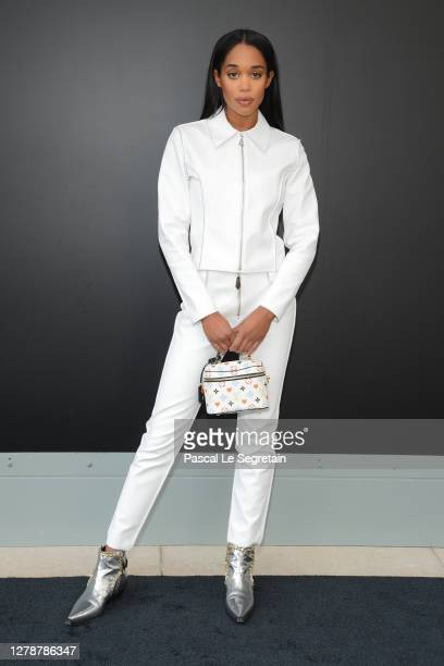 Laura Harrier attends the Louis Vuitton Womenswear Spring/Summer 2021 show as part of Paris Fashion Week on October 06, 2020 in Paris, France.
