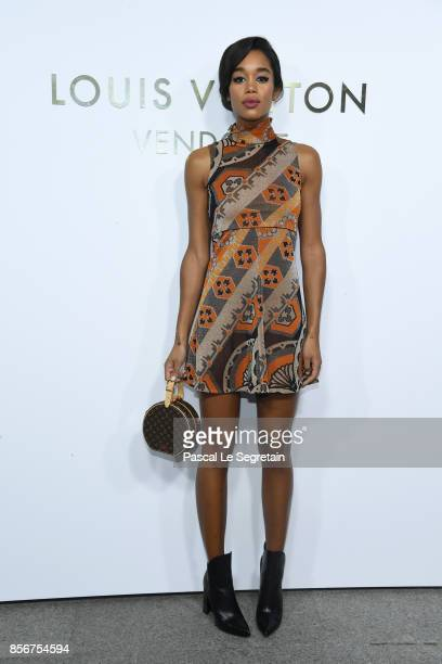 Laura Harrier attends the Opening Of The Louis Vuitton Boutique as part of the Paris Fashion Week Womenswear Spring/Summer 2018 on October 2 2017 in...