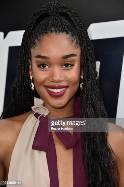 Laura Harrier attends the Premiere Of Focus Features' BlacKkKlansman at Samuel Goldwyn Theater on August 8 2018 in Beverly Hills California