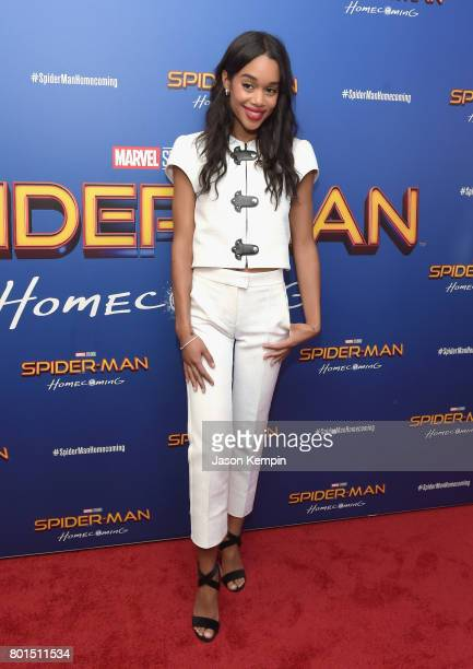 Laura Harrier attends the 'Spiderman Homecoming' New York First Responders' Screening at Henry R Luce Auditorium at Brookfield Place on June 26 2017...