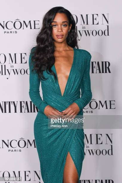 Laura Harrier attends the Vanity Fair and Lancôme Women in Hollywood celebration at Soho House on February 06, 2020 in West Hollywood, California.