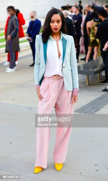 Laura Harrier is seen in Brooklyn on June 4 2018 in New York City