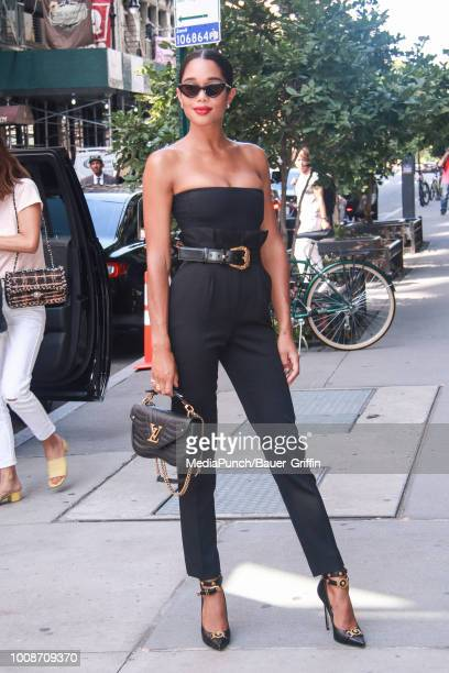 Laura Harrier is seen on July 31 2018 in New York City