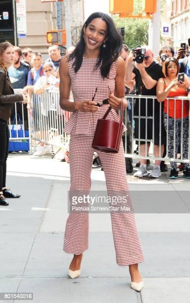 Laura Harrier is seen on June 26 2017 in New York City
