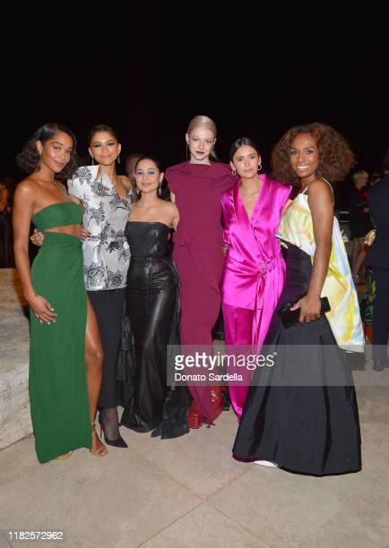 Laura Harrier Zendaya Alexa Demie Hunter Schafer Nina Dobrev and Janet Mock attend the Fifth Annual InStyle Awards at The Getty Center on October 21...