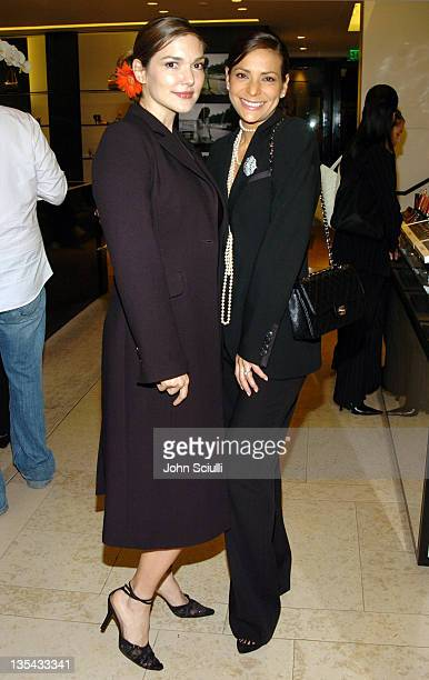 Laura Harring and Constance Marie during Chanel's Special Premiere Screening of 'No5 The Film' at Chanel Boutique in Beverly Hills California United...