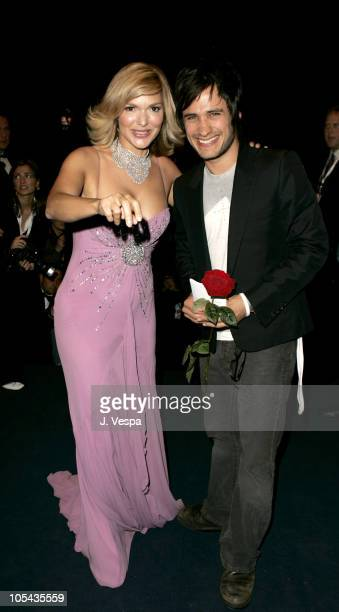Laura Harring and Gael Garcia Bernal during 2005 Cannes Film Festival 'The King' Premiere in Cannes France