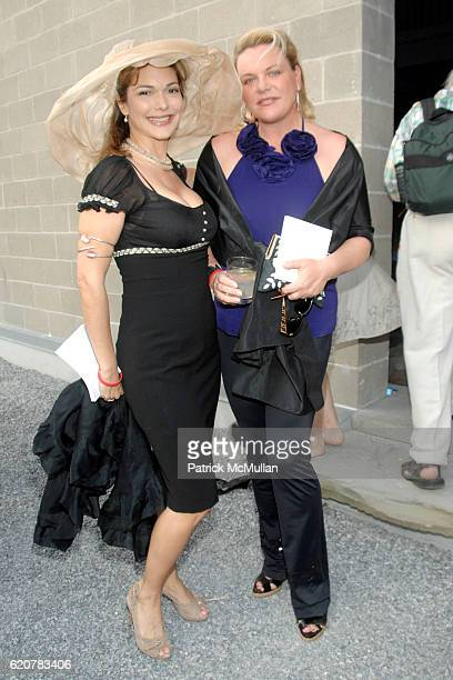 Laura Harring and Katharina OttoBernstein attend The 15th Annual WATERMILL Summer Benefit at The Watermill Center on July 26 2008 in Watermill NY