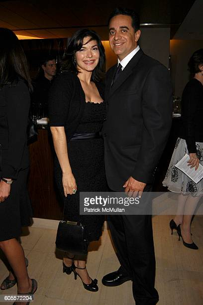 Laura Harring and Roberto Jerez attend The STRANG Cancer Prevention Center benefit screening of THE KEEPER THE LEGEND OF OMAR KHAYYAM at Allan Kaplan...