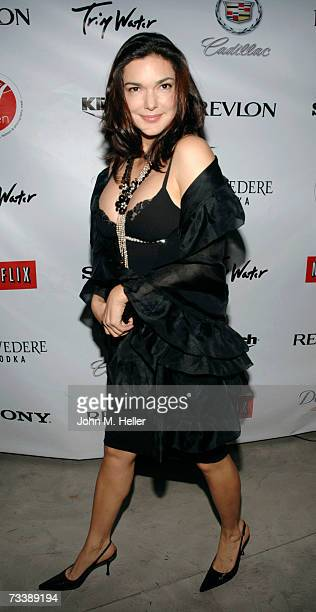 Laura Harring attends Signature At HavenAmerican Photo featuring photographs from celebrity photographers at Haven on February 21 2007 in Beverly...