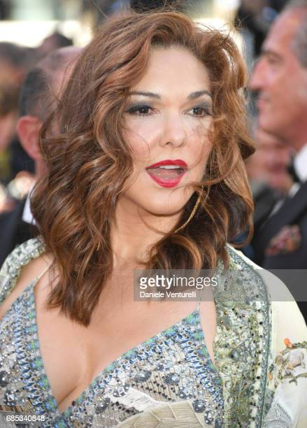 Laura Harring attends the Okja screening during the 70th annual Cannes Film Festival at Palais des Festivals on May 19 2017 in Cannes France