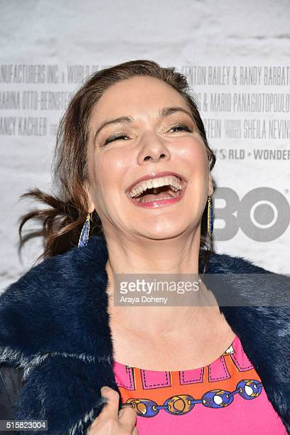 Laura Harring attends the premiere of HBO Documentary Films' Mapplethorpe Look At The Pictures on March 15 2016 in Los Angeles California