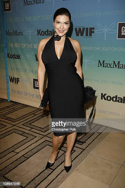 Laura Harring during 2007 Crystal Lucy Awards Presented by Women in Film Red Carpet at Beverly Hilton Hotel in Beverly Hills California United States