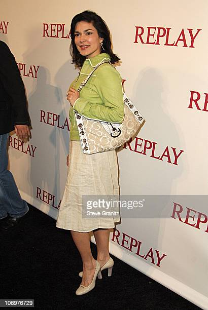 Laura Harring during Brandon Davis and Italian Clothing Brand Replay Celebrate the Opening of Their Los Angeles Store Arrivals at Falcon in Los...