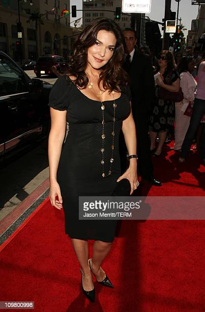 Laura Harring during Nancy Drew Los Angeles Premiere Red Carpet at Grauman's Chinese Theater in Hollywood California United States