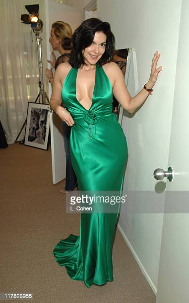 Laura Harring during W Magazine Retreat Day 1 at Private Residence in Beverly Hills California United States