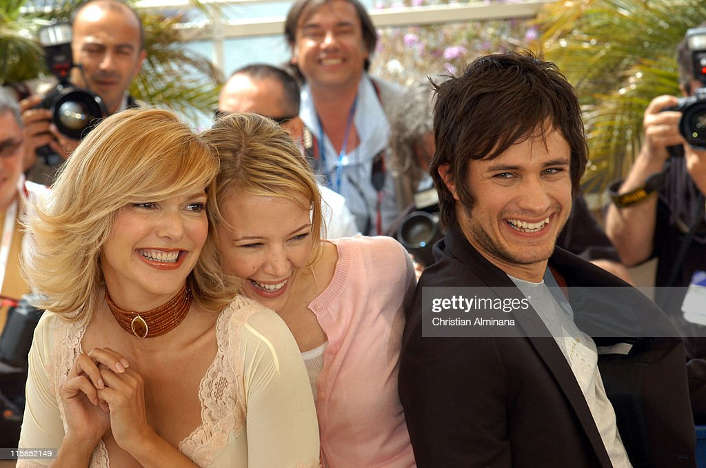 Laura Harring, Pell James and Gael Garcia Bernal during 2005 Cannes Film Festival - 'The King' Photocall in Cannes, France.
