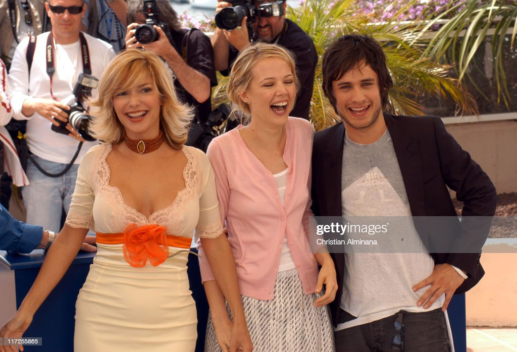 Laura Harring, Pell James and Gael Garcia Bernal during 2005 Cannes Film Festival - The King Photocall in Cannes, France.