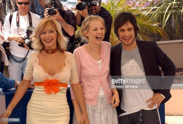 Laura Harring Pell James and Gael Garcia Bernal during 2005 Cannes Film Festival The King Photocall in Cannes France