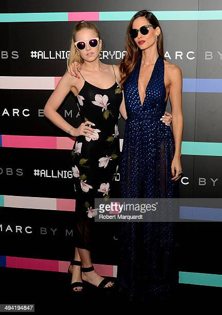 Laura Hayden and Ariadne Artiles attend the #MBMJSUNNIES Marc by Marc Jacobs Eyewear party at the Museo de Historia de Catalunya on May 28 2014 in...