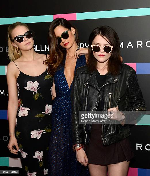 Laura Hayden Ariadne Artiles and Sky Ferreira attend the #MBMJSUNNIES Marc by Marc Jacobs Eyewear party at the Museo de Historia de Catalunya on May...