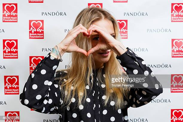 Laura Hayden attends the PANDORA BHF afternoon tea hosted by Laura Whitmore on January 28 2015 in London England