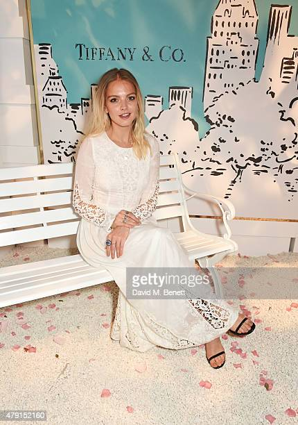 Laura Hayden attends the Tiffany Co immersive exhibition 'Fifth 57th' at The Old Selfridges Hotel on July 1 2015 in London England