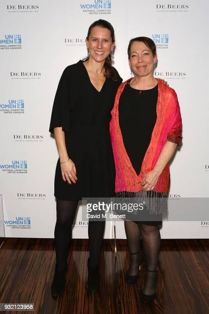 Laura Hayes attends a cocktail reception hosted by De Beers to celebrate their partnership with UN Women at De Beers Old Bond Street Boutique on...