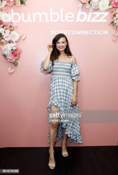 Laura Henshaw attends the Bumble Bizz launch on March 20 2018 in Sydney Australia