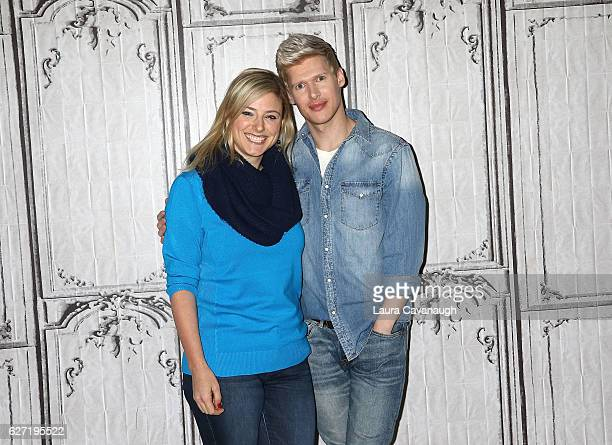 Laura Heywood and Lucas Steele attend Build Presents to discuss Broadway's 'Natasha Pierre And The Great Comet Of 1812' at AOL HQ on December 2 2016...