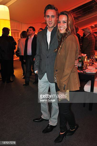 Laura Hinterseer and Marco Holzer attend the Polo Players Gala Dinner on January 14 2012 in Kitzbuehel Austria