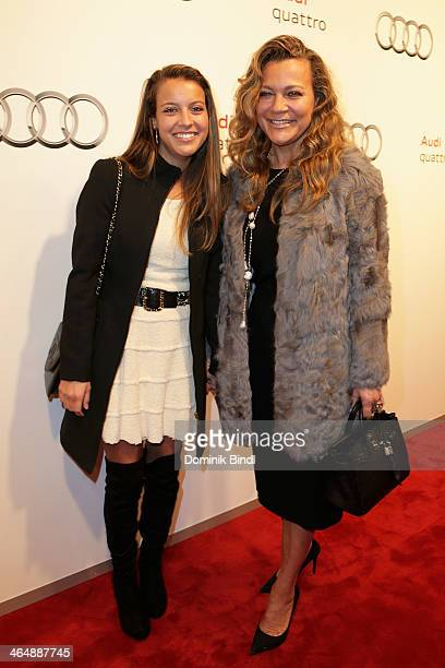 Laura Hinterseer and Romana Hinterseer attend the Audi Night 2014 on January 24 2014 in Kitzbuehel Austria