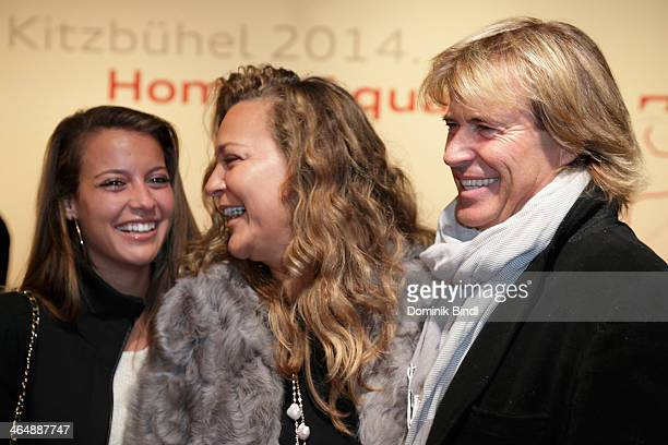 Laura Hinterseer Romana Hinterseer and Hansi Hinterseer attend the Audi Night 2014 on January 24 2014 in Kitzbuehel Austria