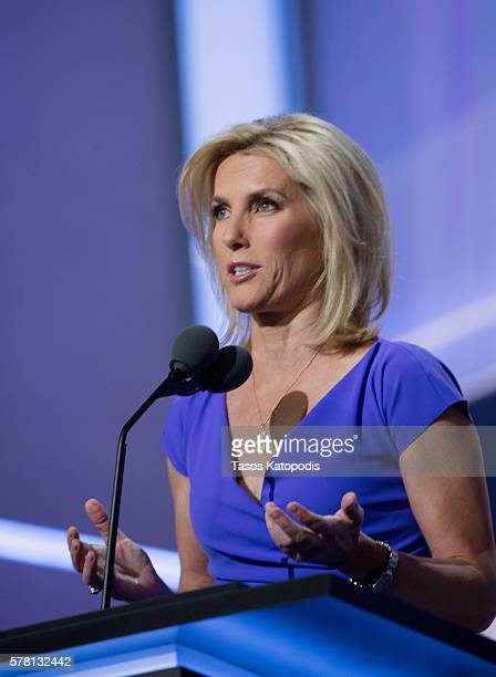 Laura Ingraham speaks on the third day of the Republican National Convention on July 20 2016 at the Quicken Loans Arena in Cleveland, Ohio. An...
