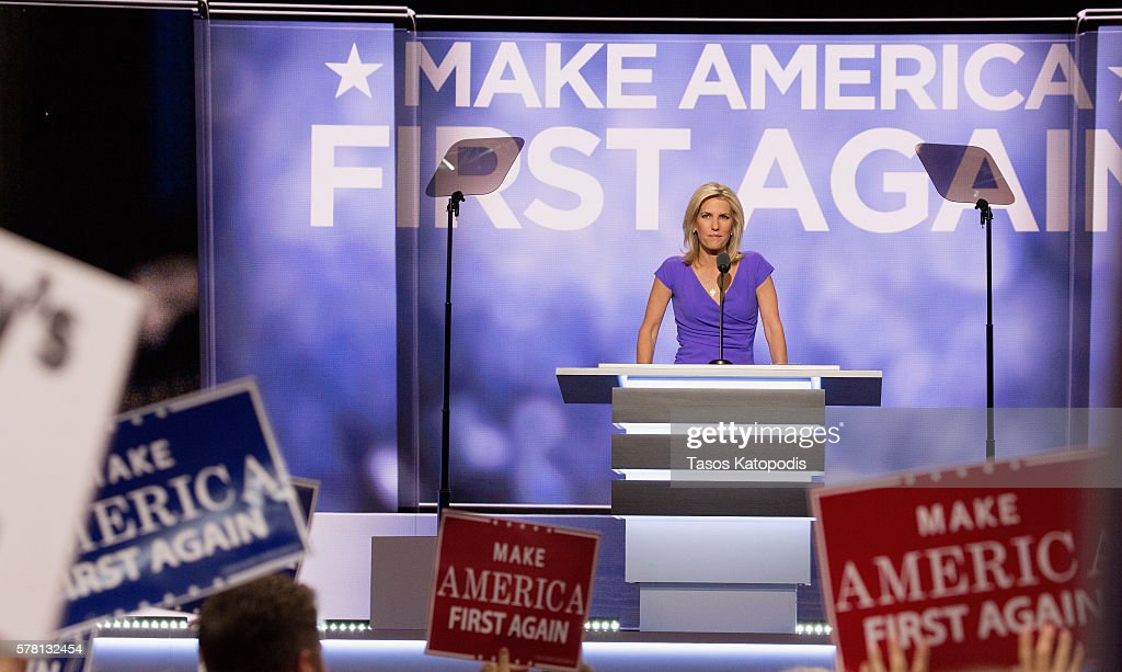 Laura Ingraham speaks on the third day of the Republican National Convention on July 20 2016 at the Quicken Loans Arena in Cleveland, Ohio. An estimated 50,000 people are expected in Cleveland, including hundreds of protesters and members of the media.