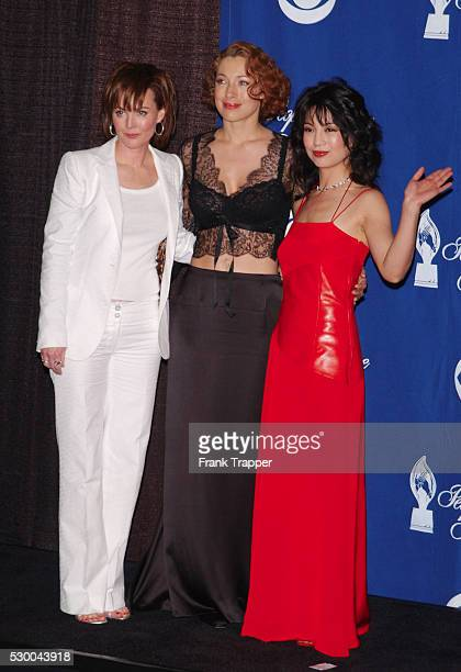 Laura Innes Alex Kingston and Ming Na backstage at the 28th annual People's Choice Awards 'ER' won for Favorite Television Dramatic Series award