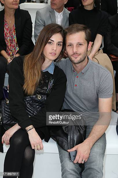 Laura Isaaz and Nicolas Duvauchelle attend Dior Homme Menswear Spring/Summer 2014 show as part of Paris Fashion Week on June 29 2013 in Paris France