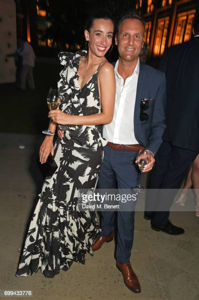Laura Jackson and Alex Dower Director of Food at Harrods attend the 2017 annual VA Summer Party in partnership with Harrods at the Victoria and...