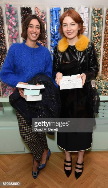 Laura Jackson and Alice Levine attend Birchbox's first UK popup store launch party on November 6 2017 in London England