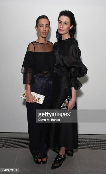 Laura Jackson and Erin O'Connor attend the British Fashion Council Fashion Film x River Island film screening and cocktail party at The Serpentine...