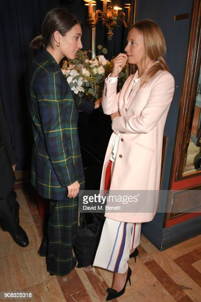 Laura Jackson and Martha Ward wearing Paul Smith attend the Paul Smith Malgosia Bela AW18 Lunch on January 21 2018 in Paris France