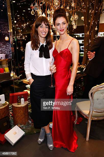 Laura Jackson and model Eve attend 'The Molton Brown Splendid Christmas' Party' at the flagship store on Regent Street on November 13, 2014 in...