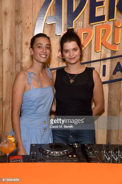 Laura Jackson and Pixie Geldof attends the Aperol Spritz Social >> on July 13 2017 in London England